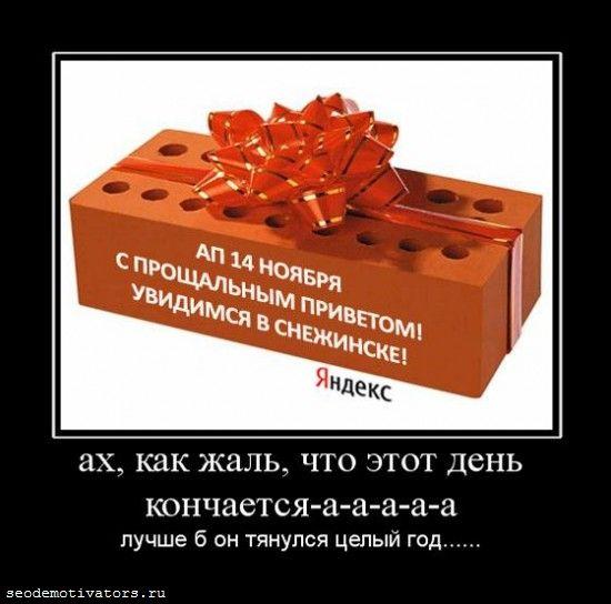 апдейт яндекса 14 ноября