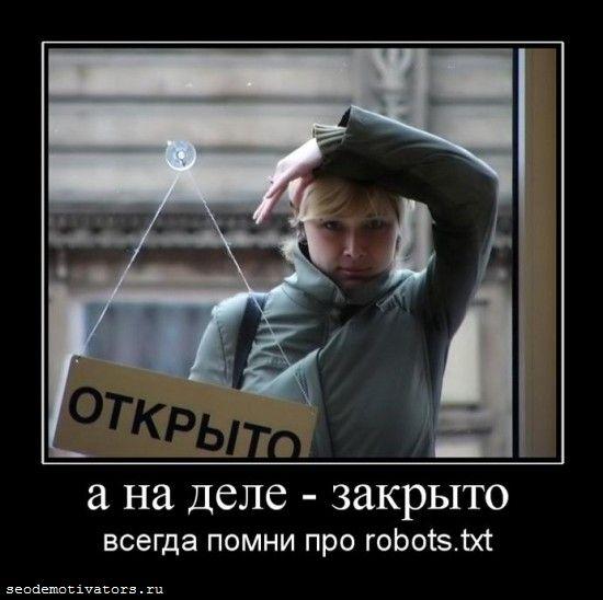 robots.txt, disallow, закрыть от индексации