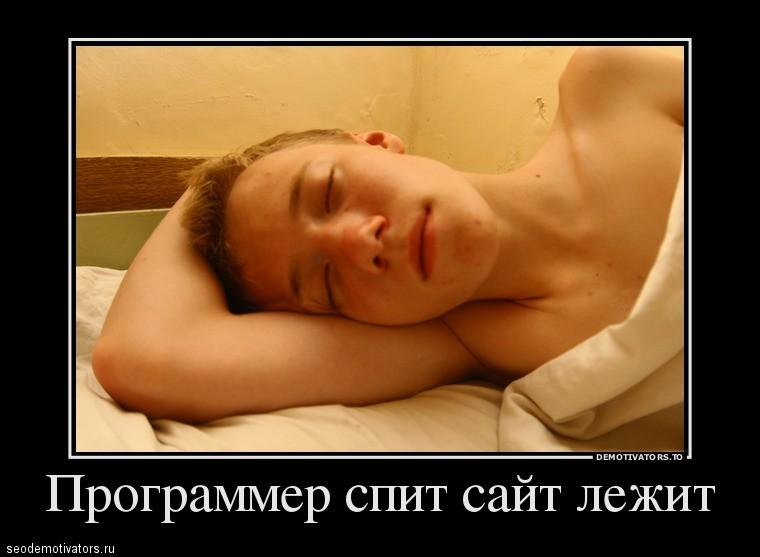 Программер спит сайт лежит